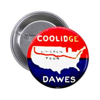 Coolidge-Dawes - botón Pins