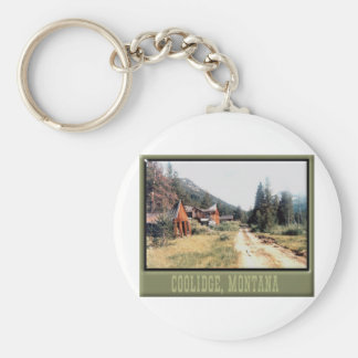 Coolidge Montana Ghost Town Keychain