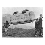 Coolies carrying cotton, 1901 (b/w photo) post cards