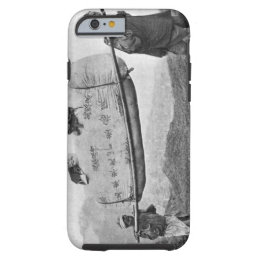 Coolies carrying cotton, 1901 (b/w photo) tough iPhone 6 case