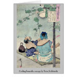 Cooling beneath a canopy by Taiso,Yoshitoshi Card