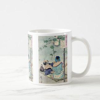 Cooling beneath a canopy by Taiso,Yoshitoshi Coffee Mug
