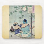 Cooling beneath a canopy by Taiso,Yoshitoshi Mouse Pad