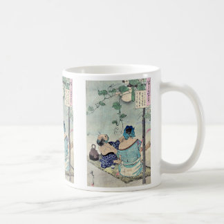 Cooling beneath a canopy by Taiso,Yoshitoshi Classic White Coffee Mug
