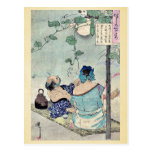 Cooling beneath a canopy by Taiso,Yoshitoshi Post Card