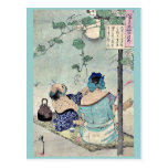 Cooling beneath a canopy by Taiso,Yoshitoshi Postcard