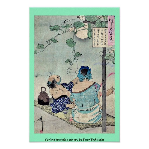 Cooling beneath a canopy by Taiso,Yoshitoshi Poster