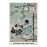 Cooling beneath a canopy by Taiso,Yoshitoshi Print