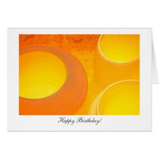 Cooling Ceramic Pots - Happy Birthday Card