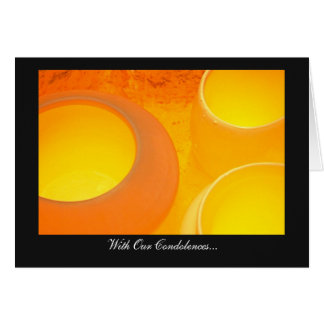 Cooling Ceramic Pots - With Our Condolences Card