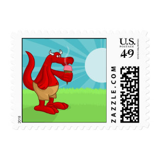 Cooling Down Postage Stamp