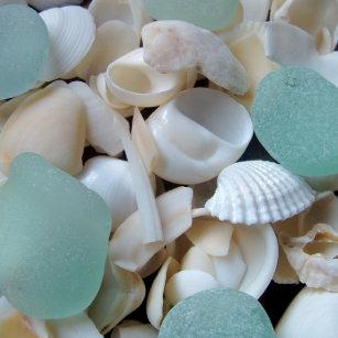 Beach Seaglass Drink & Beverage Coasters | Zazzle