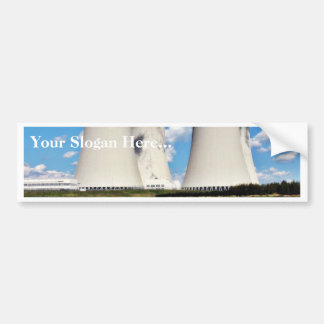 Cooling Towers Of A Nuclear Power Station Car Bumper Sticker