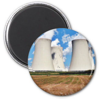 Cooling Towers Of A Nuclear Power Station Refrigerator Magnets