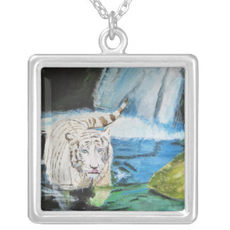 Coolling Off Square Pendant Necklace