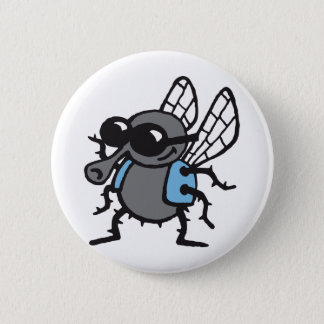 coolly fly 3c white pinback button