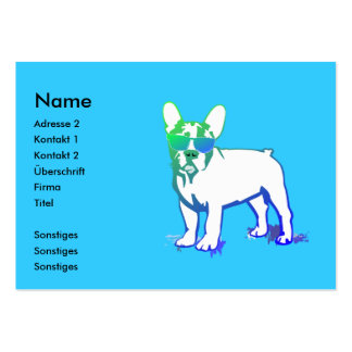Coolly puppy large business card
