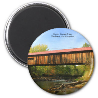 Coombs Covered Bridge Winchester NH River View Magnet