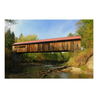 Coombs Covered Bridge Winchester NH River View Print