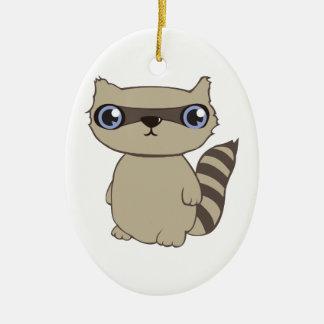 Coon Animal Christmas Ornament