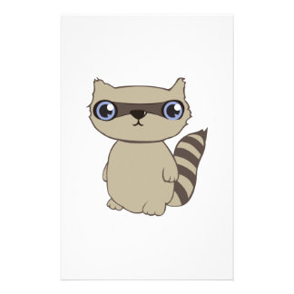 Coon Animal Personalized Stationery