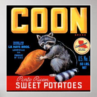 Coon Brand Sweet Potatoes Print