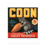 Coon Brand Sweet Potatoes Vintage Crate Label - Ra Postcards
