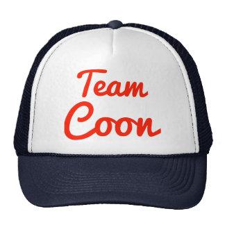 Coon del equipo gorras