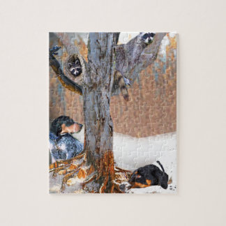 Coon Dog Hunt Puzzle