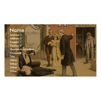 Coon Hollow, 'Who Did it? -Me' Vintage Theater Business Card