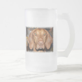 Coon Hound Frosted Beer Mug