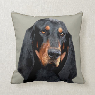 Coon Hound Portrait Throw Pillow