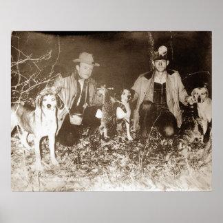Coon Hunting Print