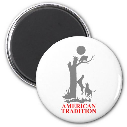 COON HUNTING REFRIGERATOR MAGNET