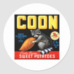 Coon Sweet Potatoes Classic Round Sticker
