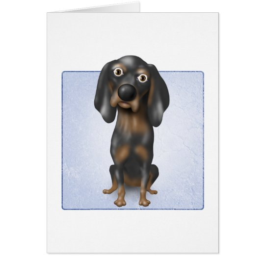 Coonhound (Black and Tan) Card