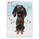 Coonhound (Black and Tan) Christmas Cards