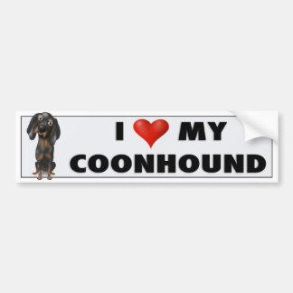 Coonhound (Black and Tan) Love BTC Car Bumper Sticker