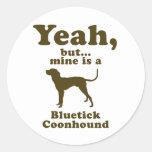 Coonhound de Bluetick Pegatina Redonda