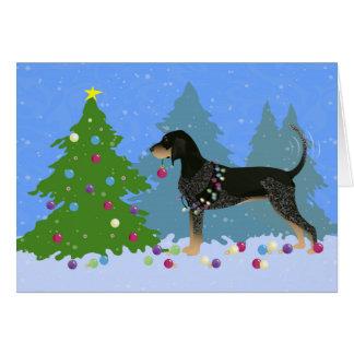 Coonhound de Bluetick que adorna el árbol de Tarjeta De Felicitación