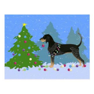 Coonhound de Bluetick que adorna el árbol de Tarjeta Postal