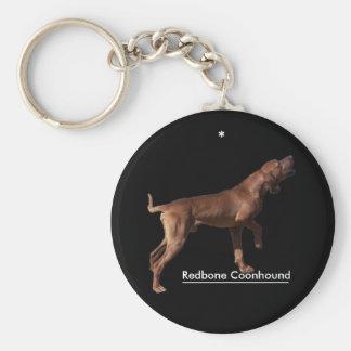 Coonhound de Redbone Llavero Redondo Tipo Pin
