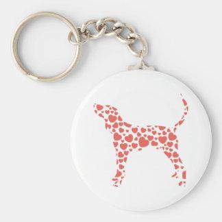 Coonhound del caminante de Treeing Llavero Redondo Tipo Pin