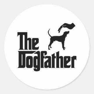 Coonhound del caminante de Treeing Pegatinas Redondas
