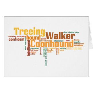 Coonhound del caminante de Treeing Tarjeta De Felicitación