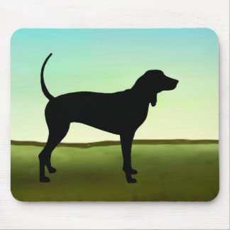 Coonhound del cielo azul tapete de raton