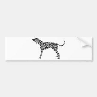 Coonhound del inglés americano pegatina para auto