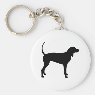 Coonhound Dog (black) Keychain
