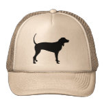 Coonhound Dog (black) Mesh Hat