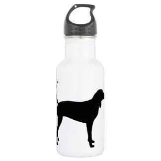Coonhound Dog (black) Water Bottle